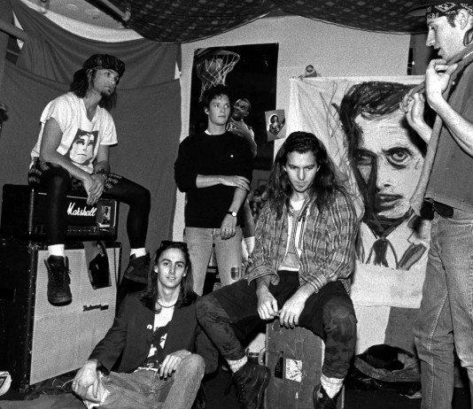 Pearl Jam en blanco y negro