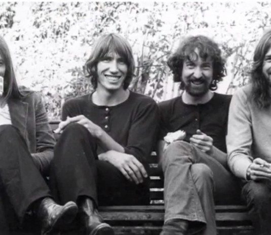 Pink Floyd en un banco