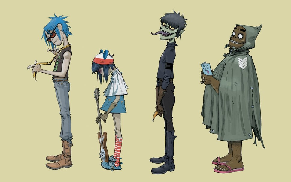 Russel And Noodle Gorillaz