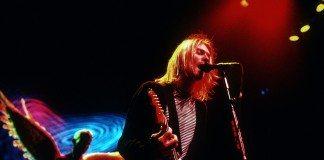 Kurt Cobain en la gira de In Utero