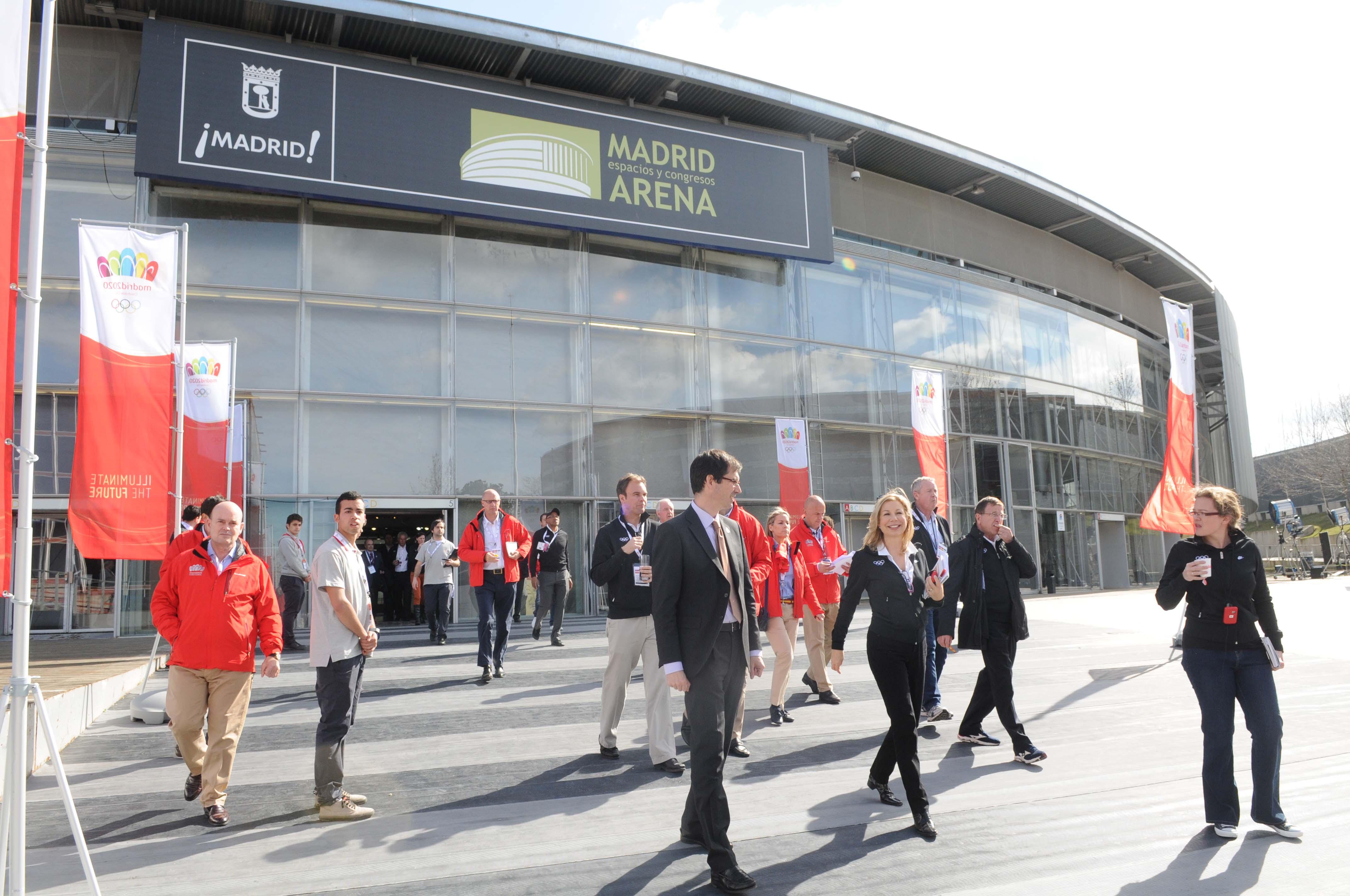 COI visita Madrid Arena para Madrid 2020