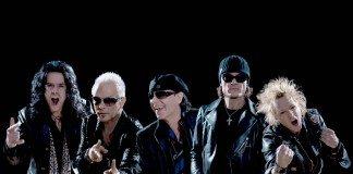 Scorpions con un fondo negro
