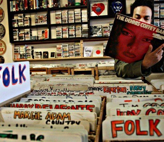 tienda de discos sección folk