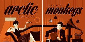 Cartel de un concierto de Arctic Monkeys