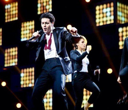 Basim actuando para Eurovision 2014