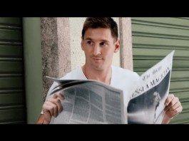 Messi en el anuncio de Pepsi para el Mundial de Brasil 2014