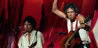 Bob Dylan y Keith Richards en directo