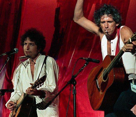 Bob Dylan y Keith Richards en directo