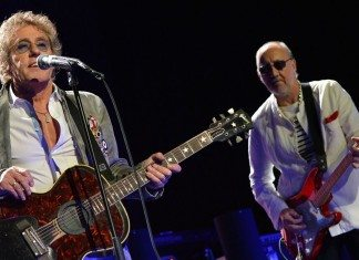 Roger Daltrey y Pete Townshend de The Who en concierto