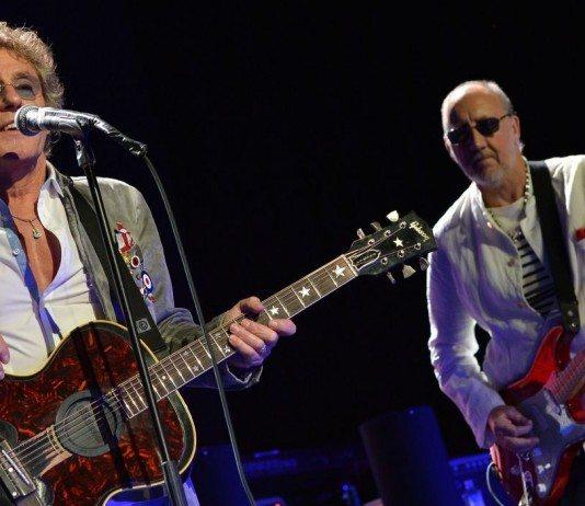 Roger Daltrey y Pete Townshend de The Who en concierto