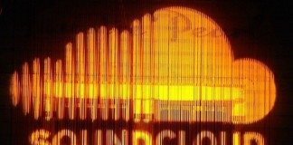 Logo de Soundcloud luminoso