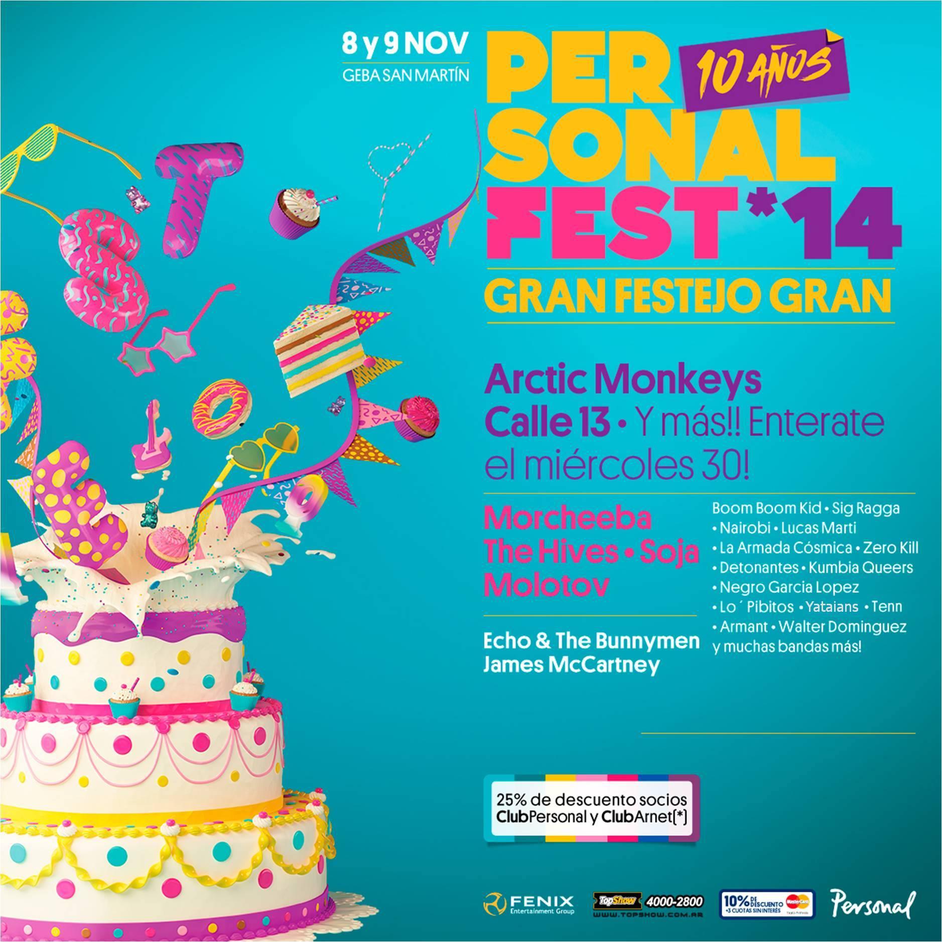 Cartel provisional del Personal Fest 2014