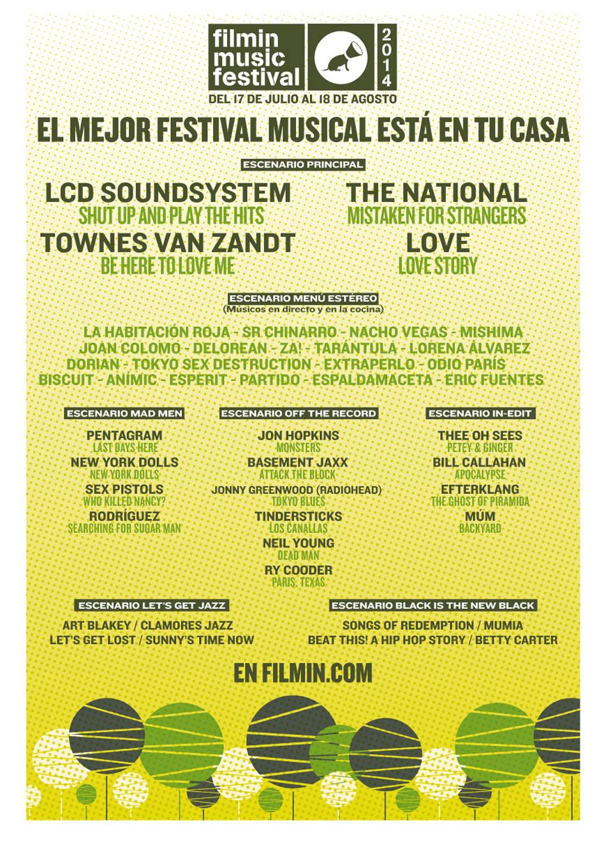 Cartel del Filmin Music Festival