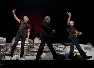 Pink Floyd en el concierto del aniversario de 'The Wall' en 2011