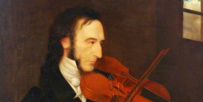 Niccolò Paganini por Daniel Maclise