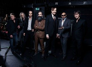 Nick Cave y The Bad Seeds en el backstage