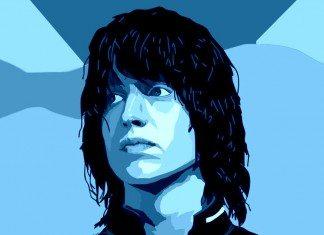 Julian Casablancas en tonos azules