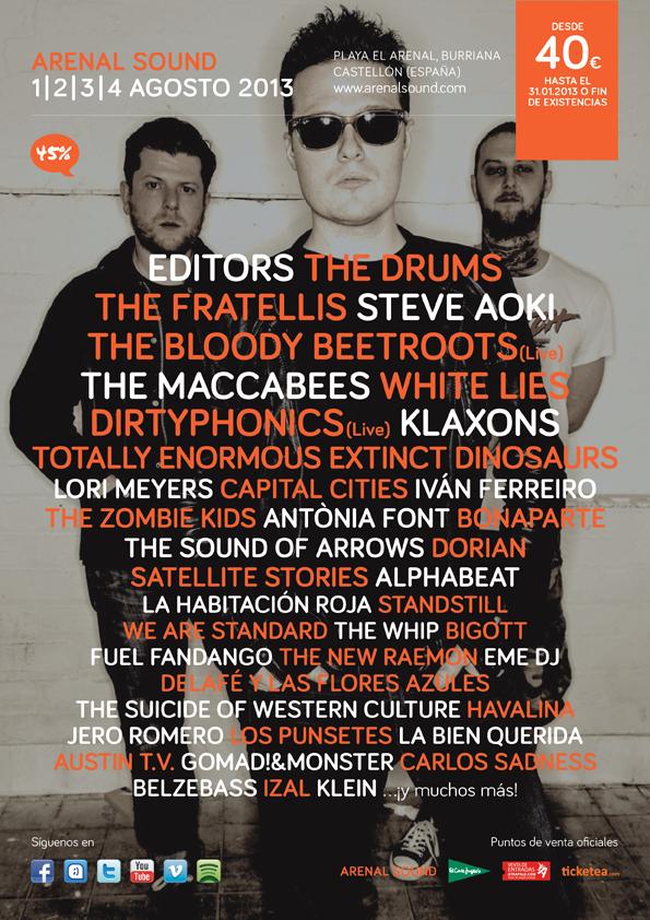 Arenal Sound 2013 se apunta un tanto al confirmar a The Drums, The Maccabees o Klaxons entre otros
