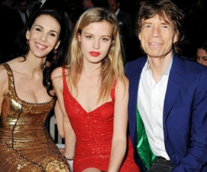 Mick Jagger e hijas