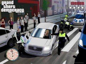 Esperanza Aguirre en 'Grand Theft Auto'