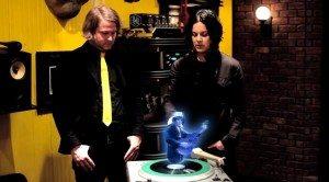 El vinilo de Lazaretto proyecta un holograma de Jack White.