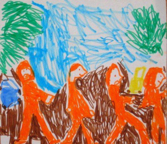 Dibujo de la portada de 'Abbey Road' de The Beatles