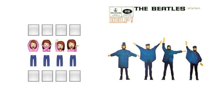 Portada de 'Help' de The Beatles en Emoji.