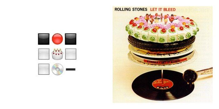 Portada de 'Let It Bleed' de The Rolling Stones en Emoji.