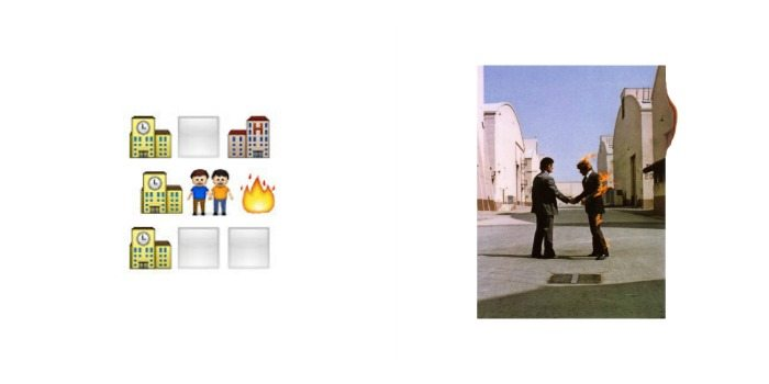 Portada de 'Wish You Were Here' de Pink Floyd en Emoji.