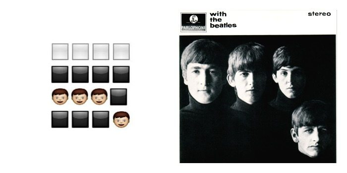 Portada de 'With The Beatles' de The Beatles en Emoji.