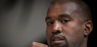 Kanye West en primer plano en 2014